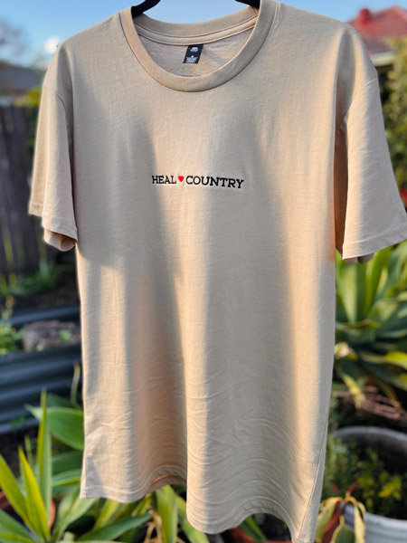 Heal Country Tee - Tan - Front
