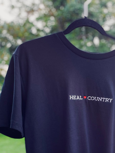 Heal Country Tee - Black - Front